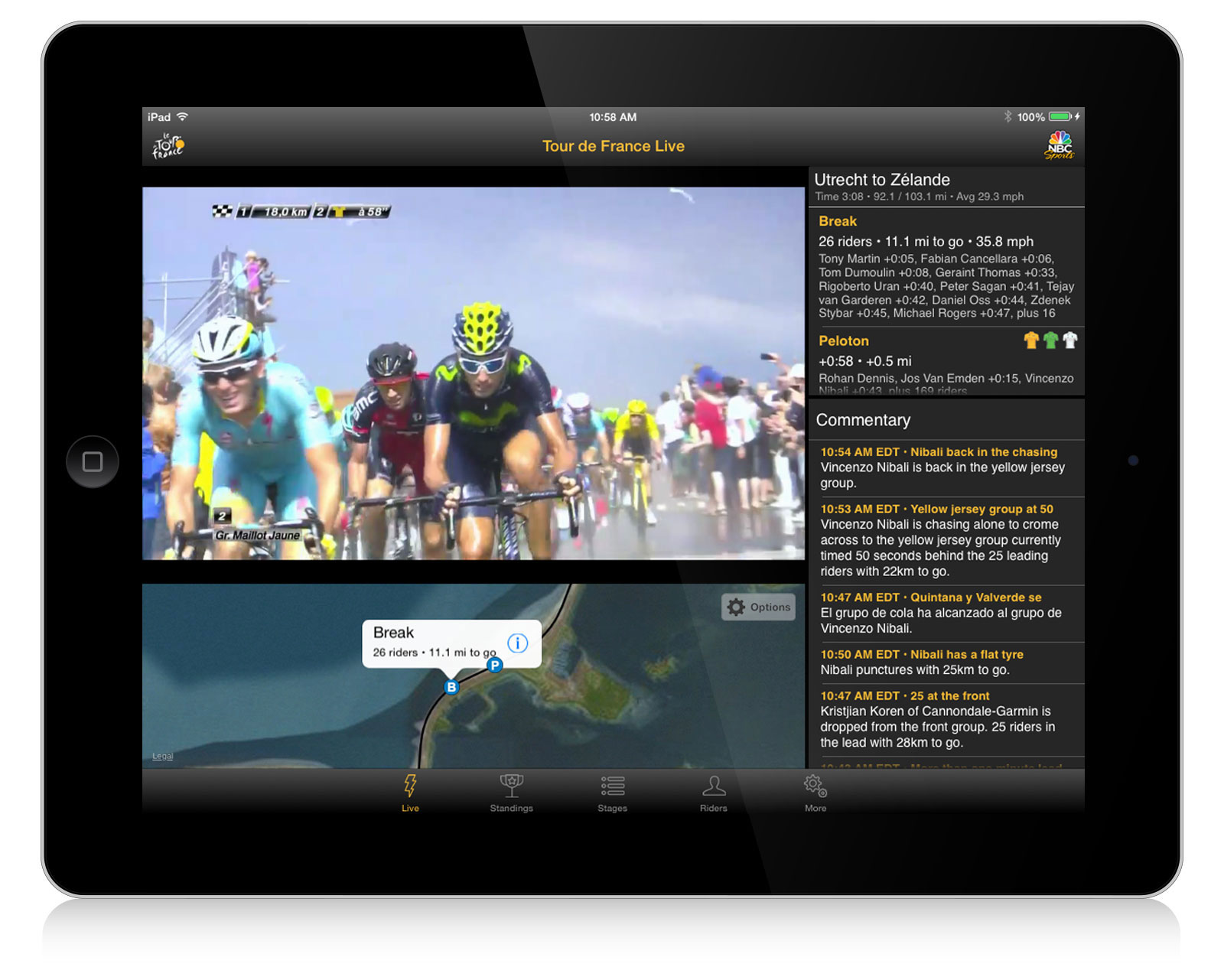 Le Tour de France website screen grabs