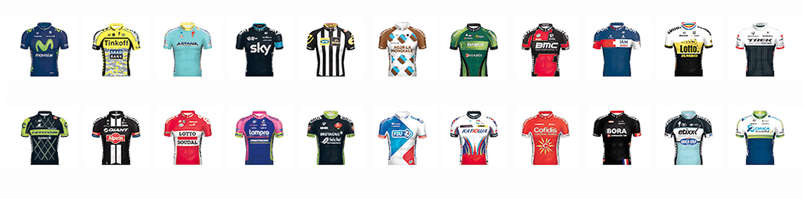 Le Tour de France IAM jerseys